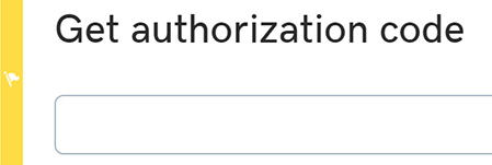Enter your authorization code domain transfer